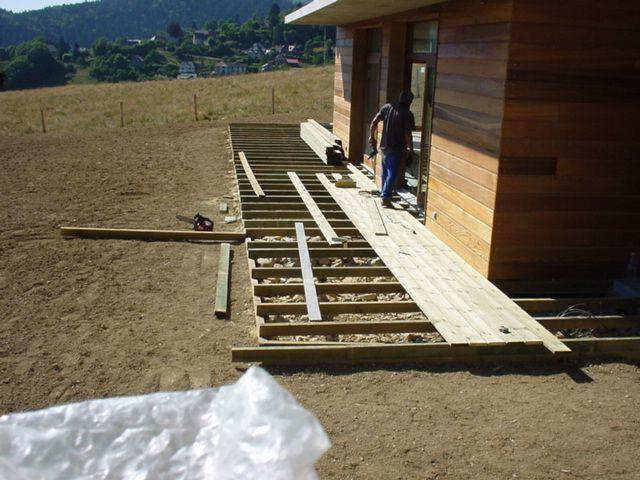 création de terrasse en bois (pin )