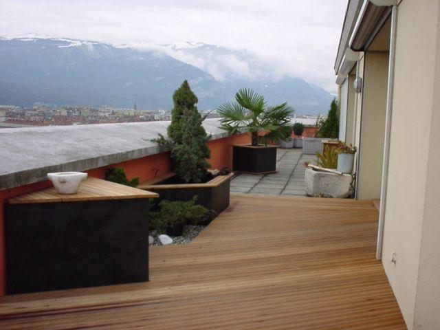 Am nagement d 39 une terrasse grenoble centre ville - Amenagement d une terrasse ...